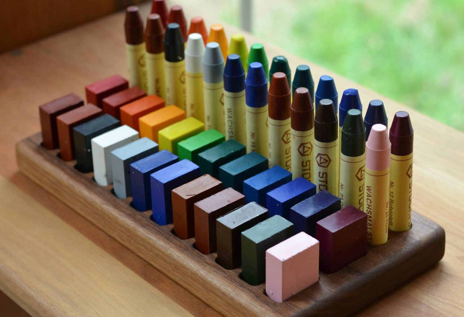 wooden beeswax crayon holder pinterest crayon holder crayons