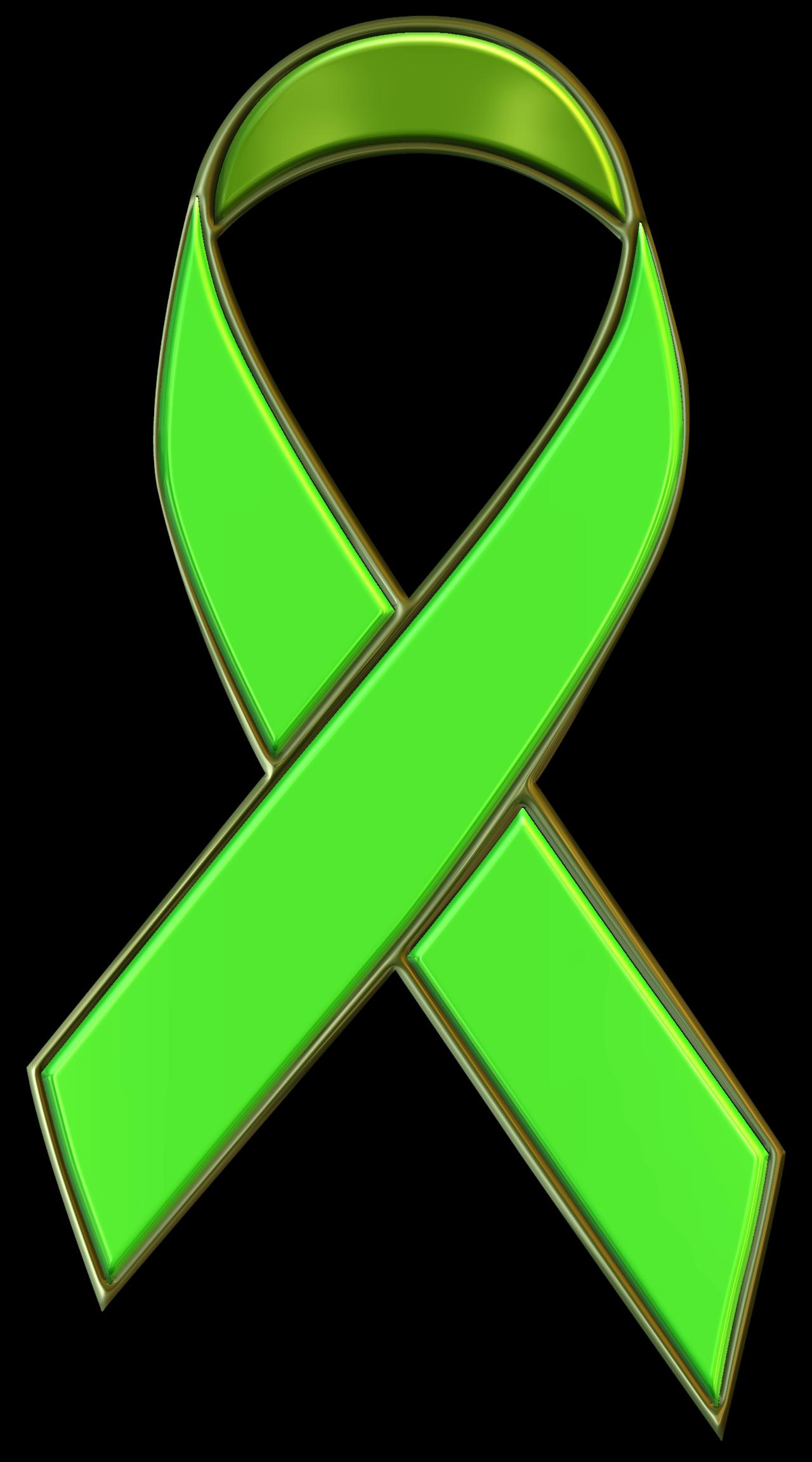 PinMart/'s Mental Health Green Awareness Ribbon Enamel Lapel Pin