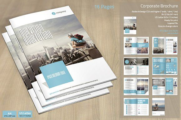 Corporate Brochure Vol. 5 Templates Corporate Brochure Vol. 5   And US  Letter. This Is A Modern And Powerful Template For A Brochure By MrTemplater