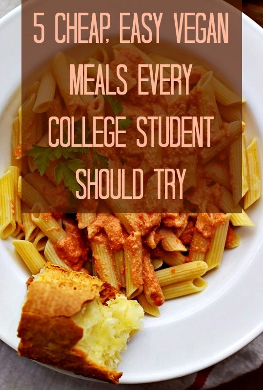 5 Cheap Easy Vegan Recipes For College Students Kind