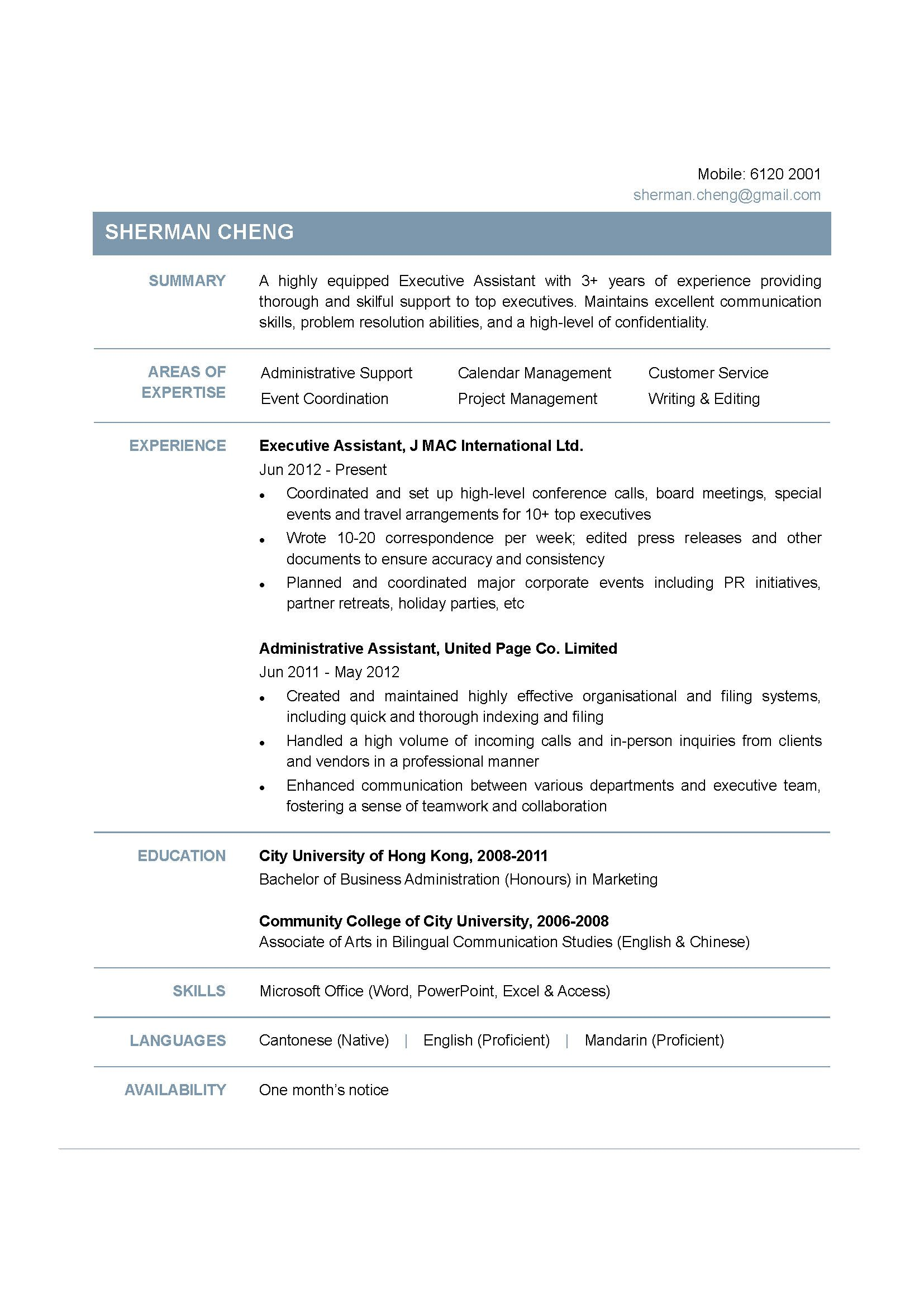 Resume Templates Hong Kong Resume Examples Job Resume Examples Functional Resume Template