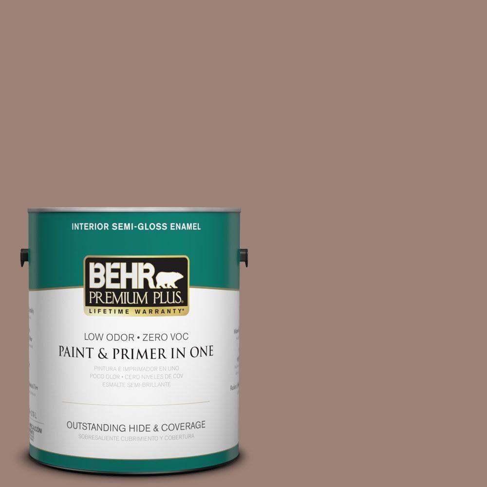 BEHR Premium Plus 1-gal. #N150-4 Modern Mocha Semi-Gloss Enamel Interior Paint