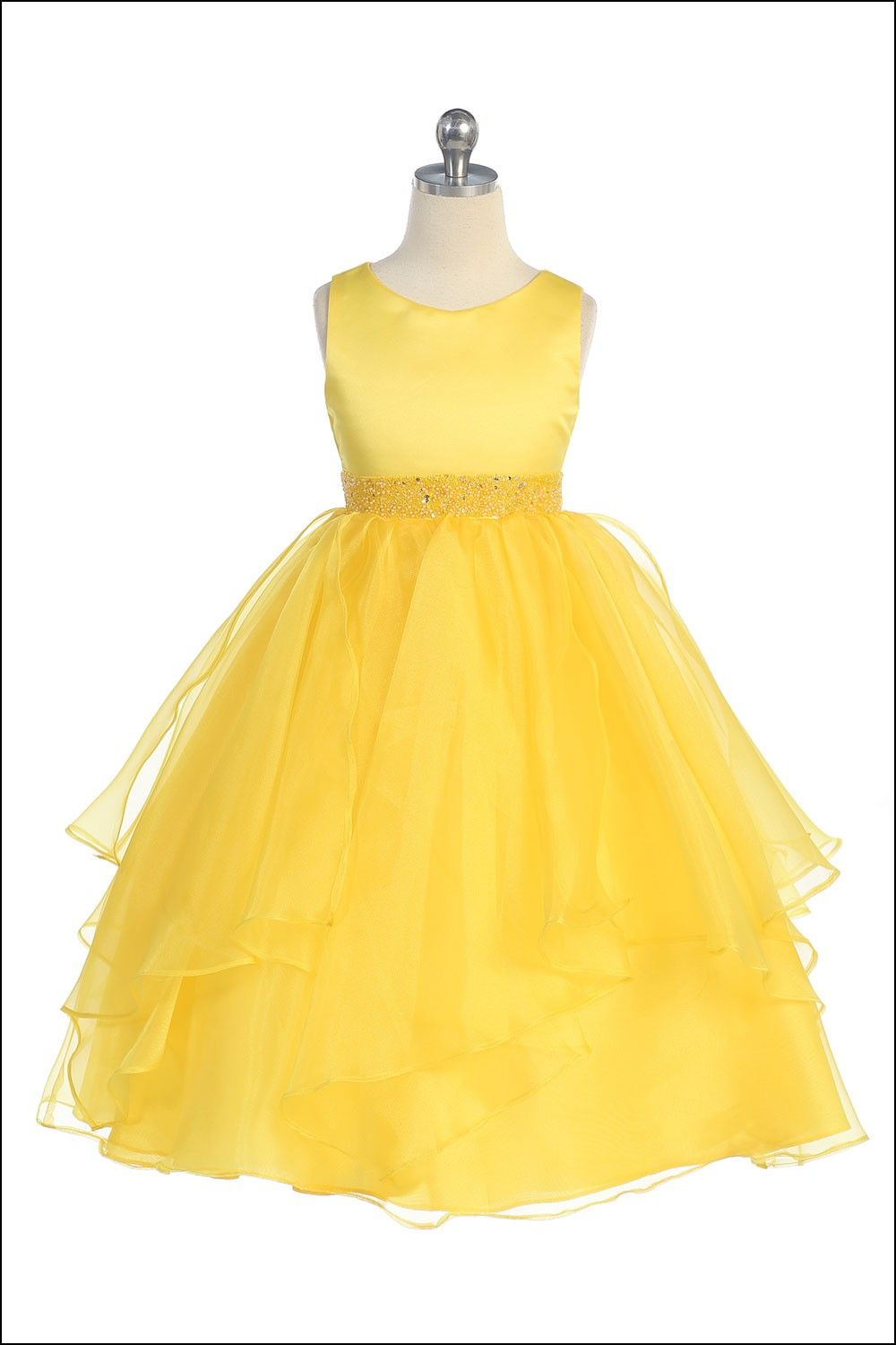 Yellow And Grey Flower Girl Dresses Dresses And Gowns Ideas