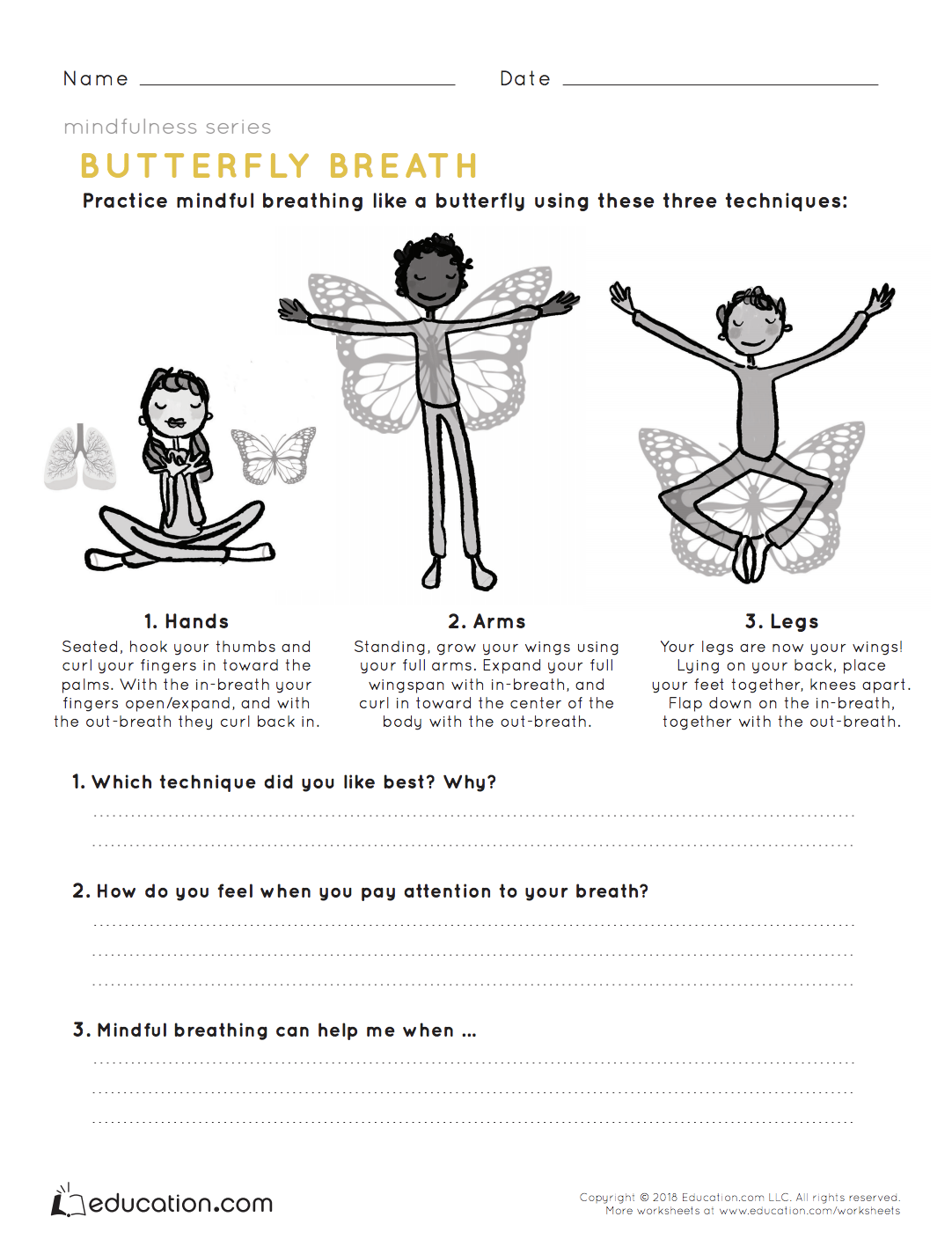 Mindfulness Butterfly Breath With Images