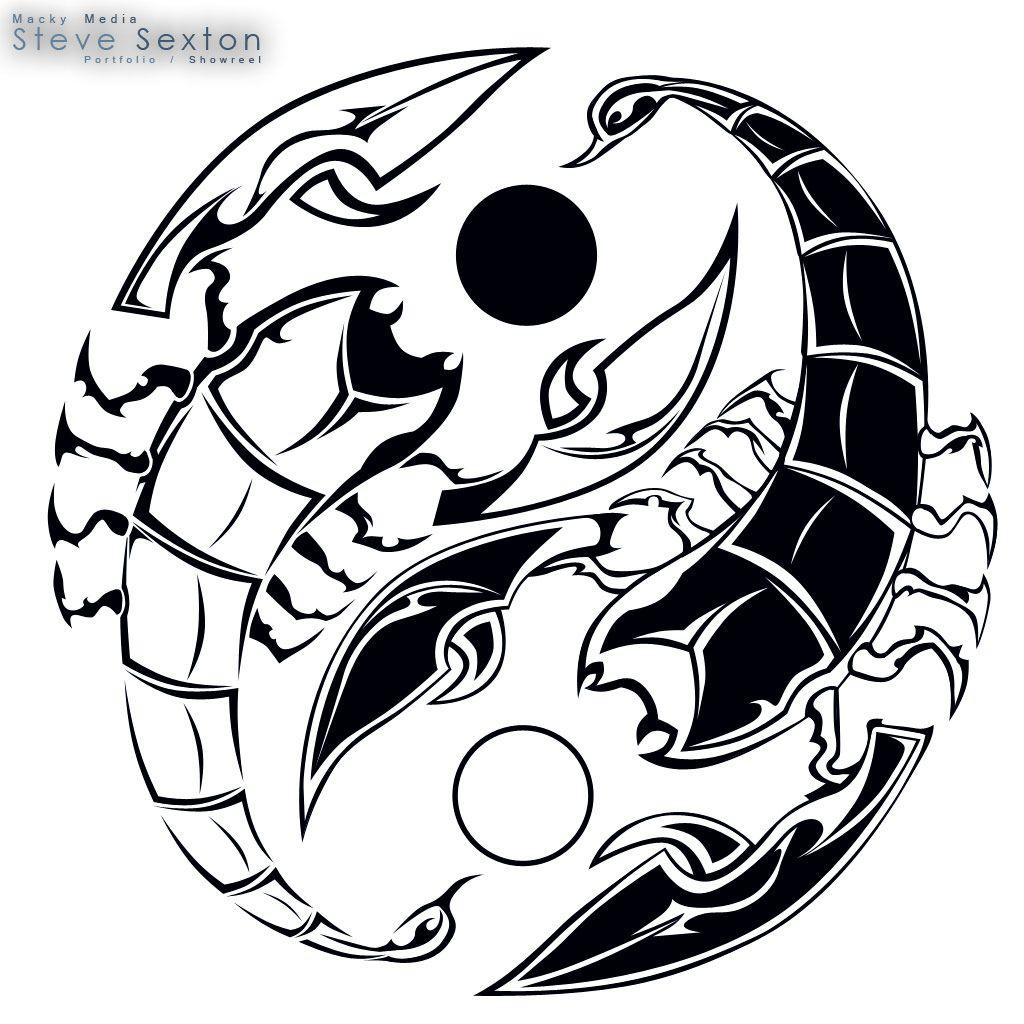 Scorpio/Yin, Yang Tattoo <3