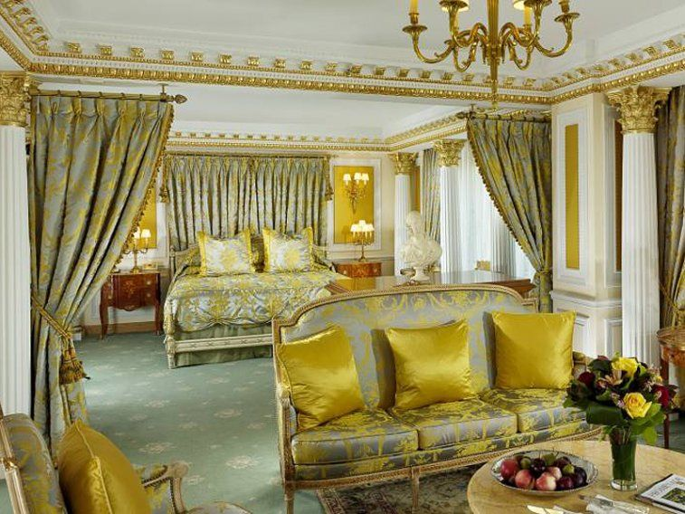 7 The Tower Royal Suite At New York Palace Hotel Features Gold Leaf In Crown Molding Im Looking For A DIY Way To Add Some My Boudoir