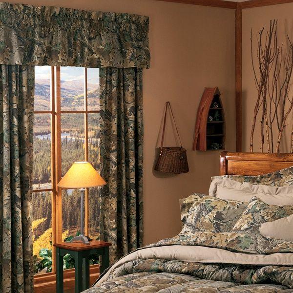 Camouflage House Decor | Realtree Advantage Camo Window Curtain
