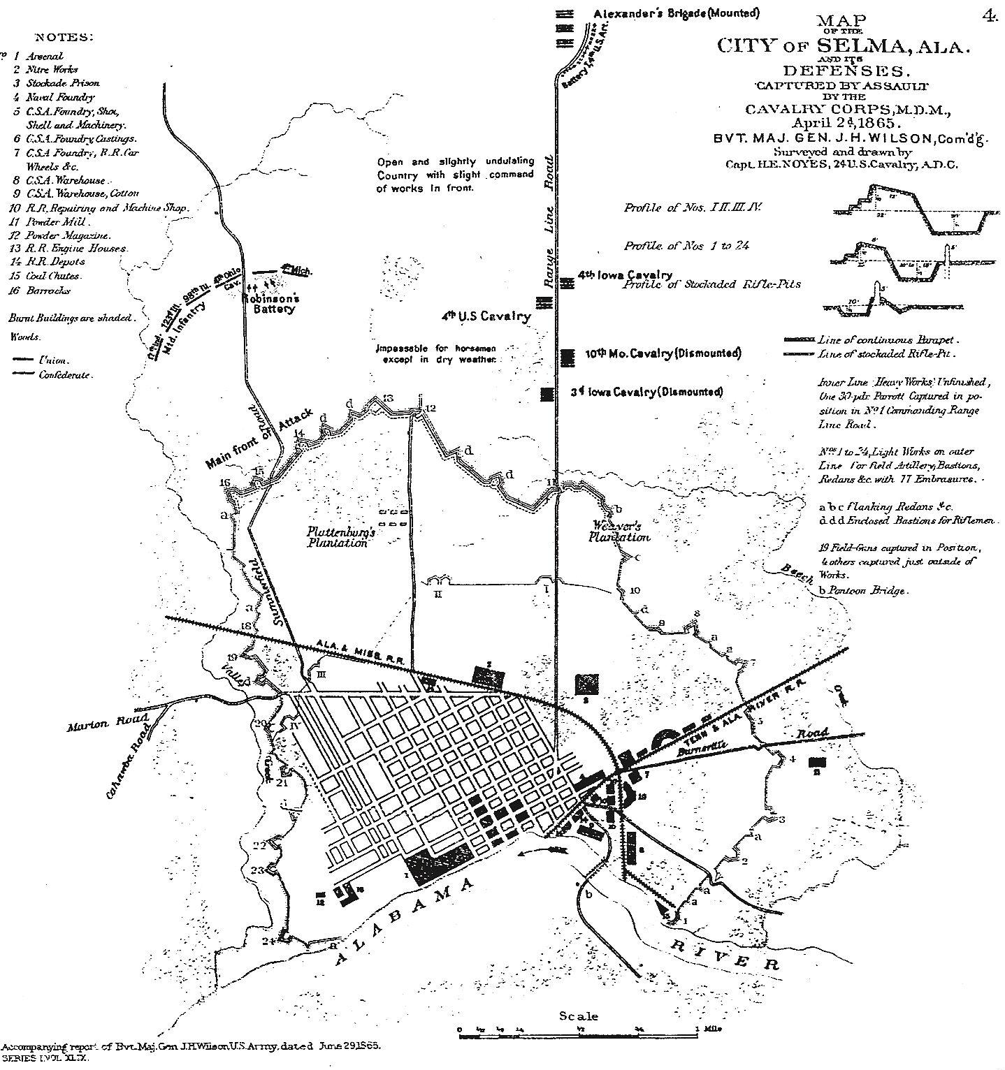 Battle of Selma Al map 1865. | Battle of Selma | Pinterest | Battle ...