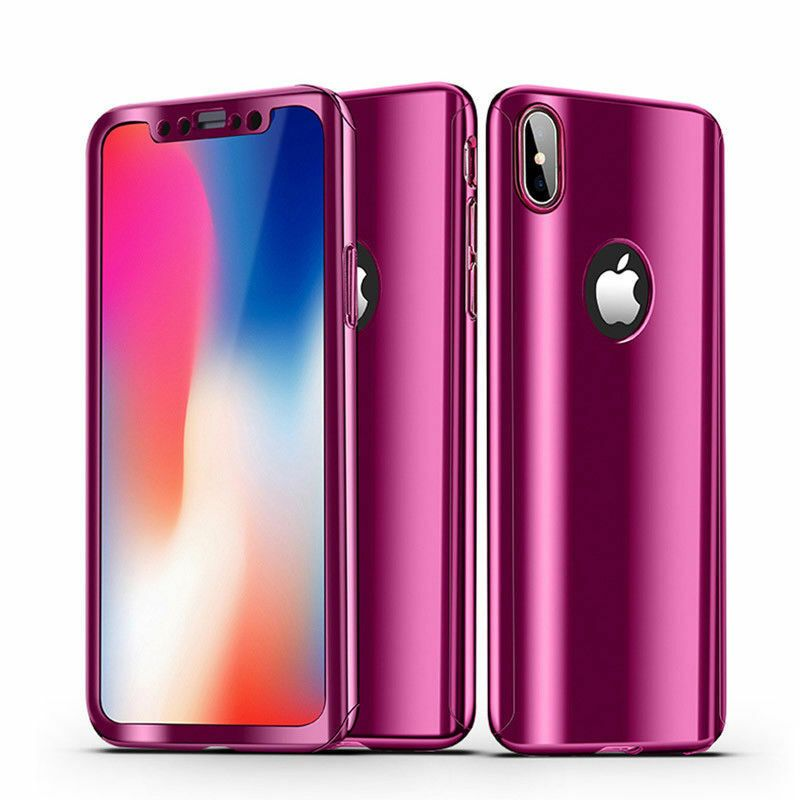 360 plating mirror case for iphone xs max xr 8 7 plus