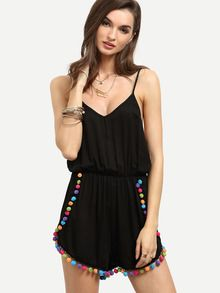 0c88fc15df Love this Pom Pom Romper for Summer Fashion | My Style | Backless ...