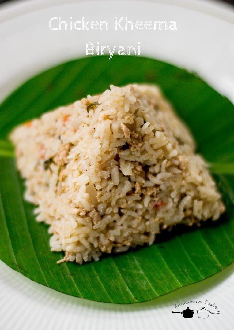 Chicken Keema Biryani Kozhi Kaima Biryani Recipe Food Recipes