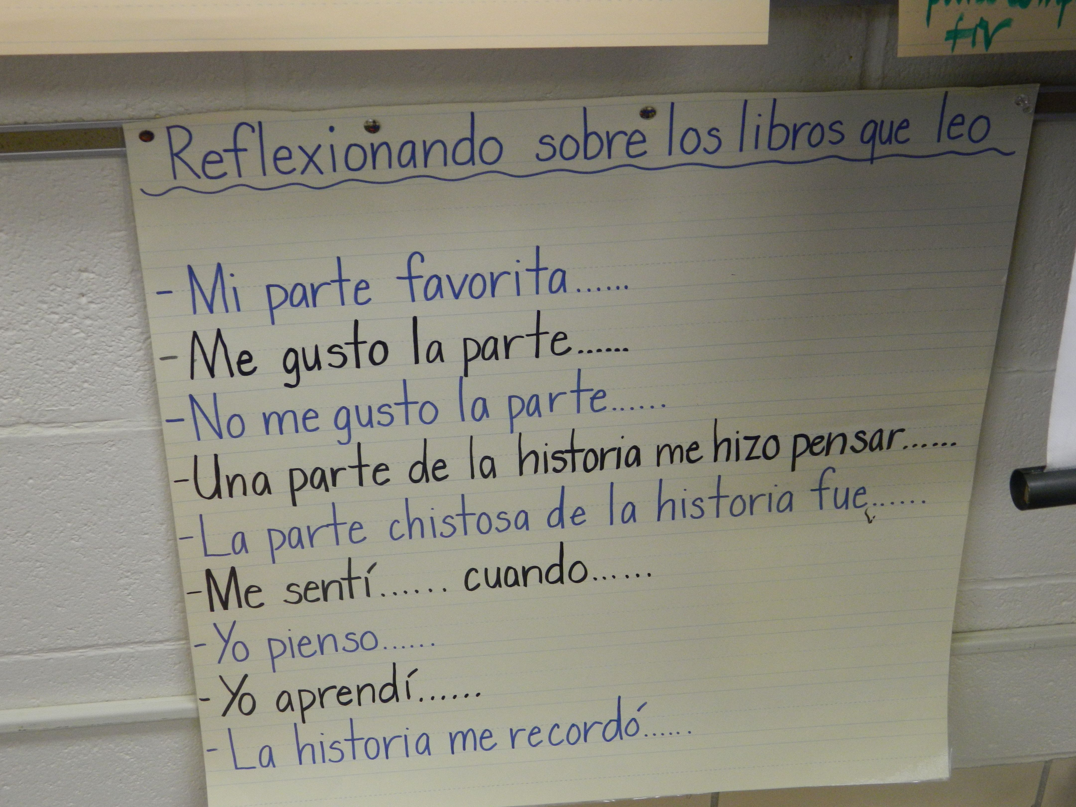 images about spanish anchor charts literatura spanish writing prompts