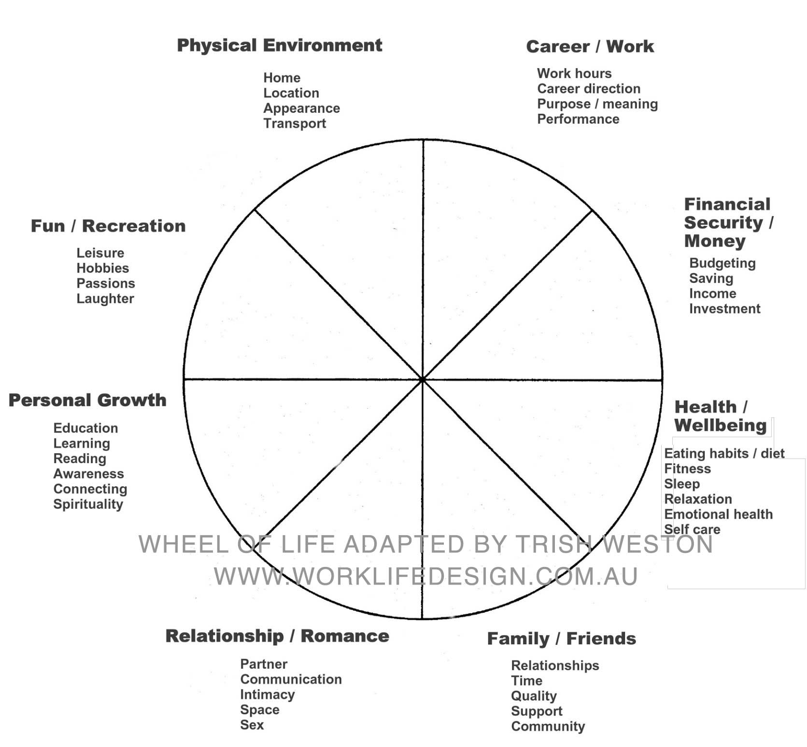 Goals Wheel Of Life My Experience A Mghow Man Going His