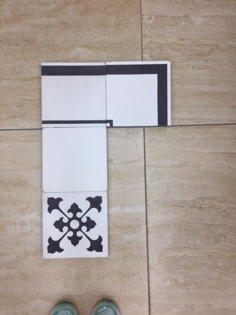 Concrete Cuban tile 8X8 for bathroom