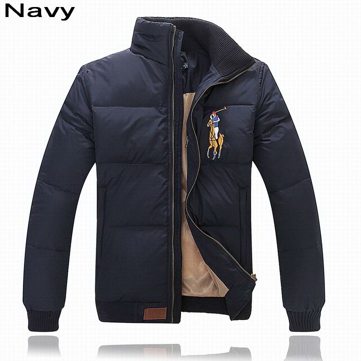 Polo Ralph Lauren Men Multicolor Big Pony Feather Down Jacket Navy ... 8886dc0544