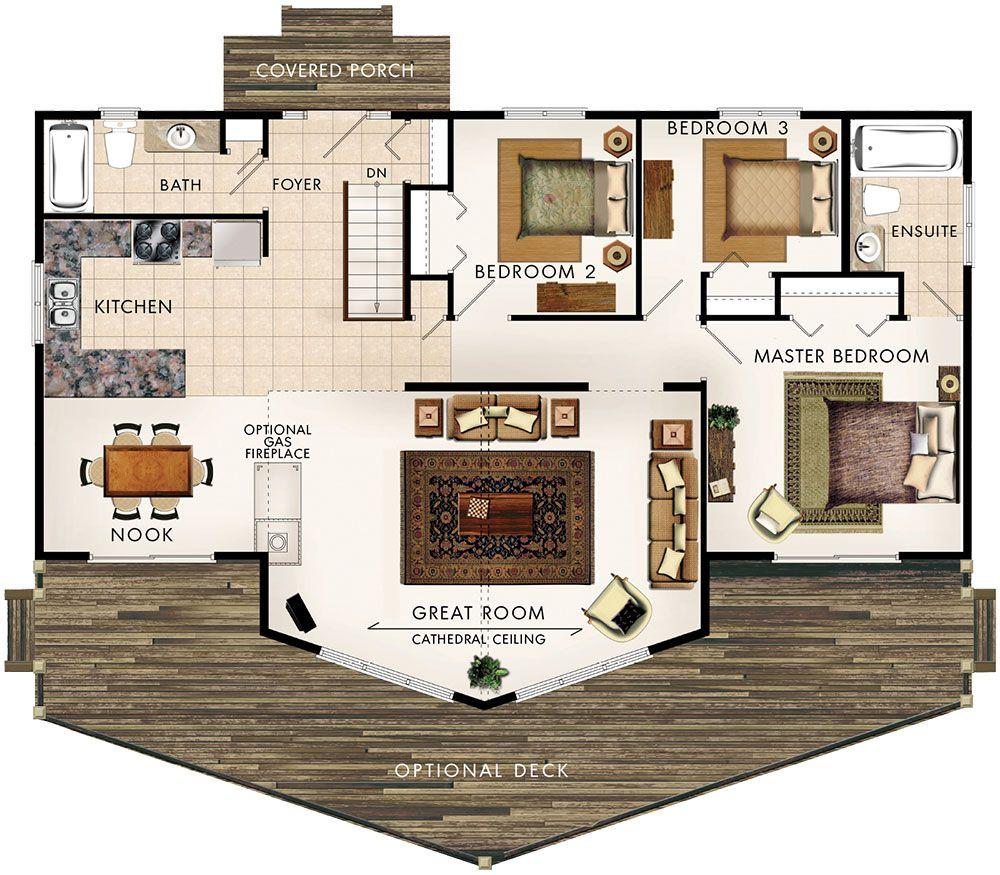 Best Banff I Floor Plan No Basement Stairs Means More Kitchen 640 x 480