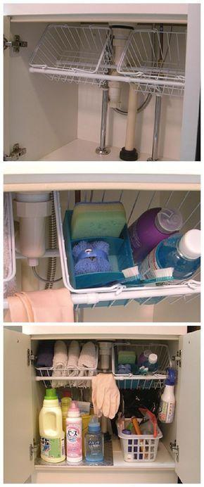 kitchen sink organization ideas #smallkitchendecor