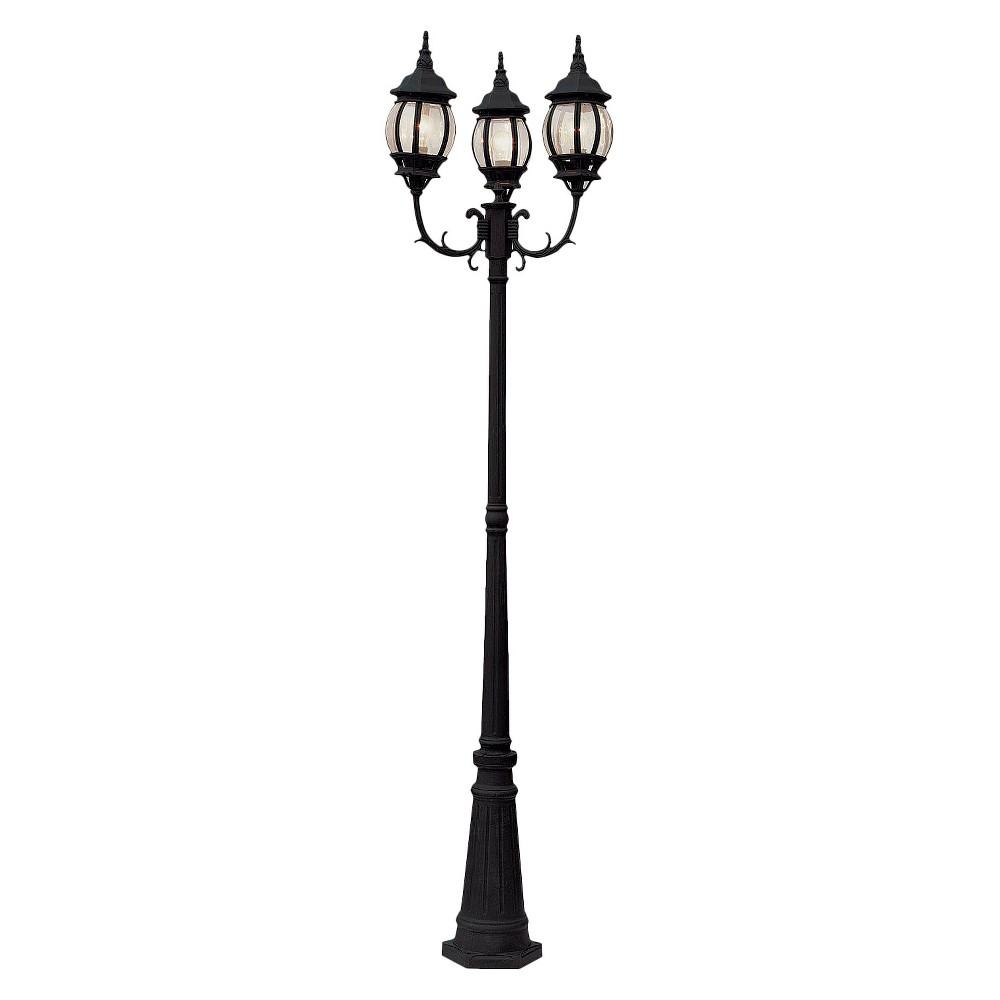 Italian Estate 91 Lamp Post In Black Outdoor Post Lights Outdoor Lamp Posts Bel Air Lighting