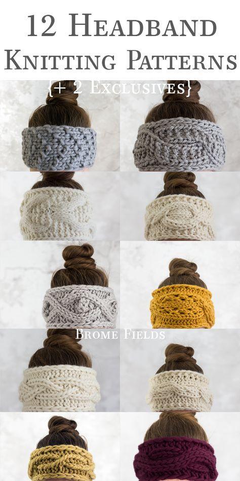 Photo of 12 Days of Thankfulness Headband Knitting Pattern Bundle – Brome Fields