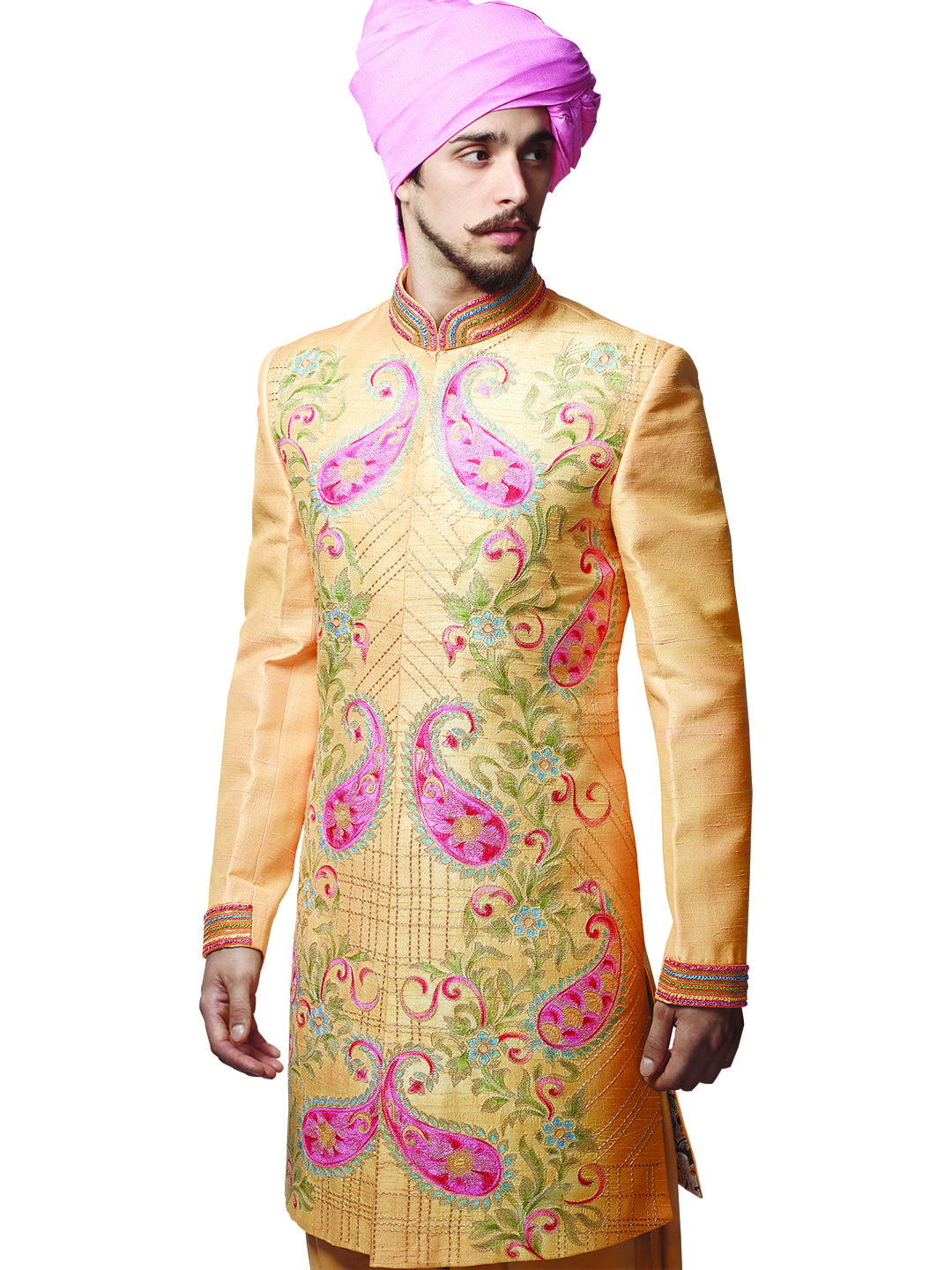 mens indian wedding wear, Beige Raw Silk Men Indo Western | Buy Indo ...