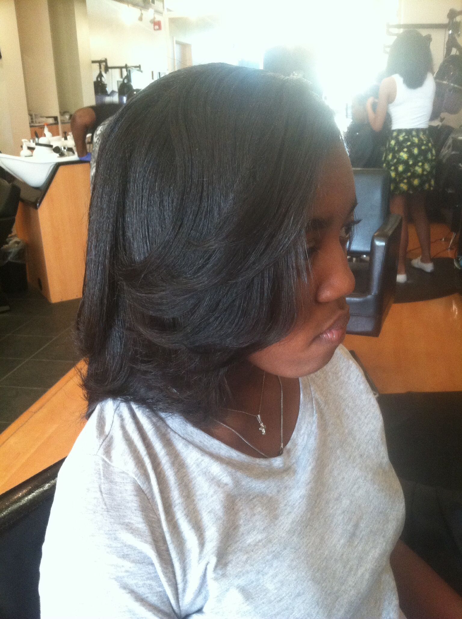 Silky Hair With Body And Bounce Styled To Enhance Layers Charlotte