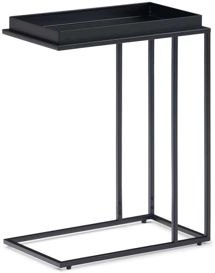 Boston Metal Half Moon Console Table with Wood Top Scroll Accent Dark Brown Product SKU HD223560