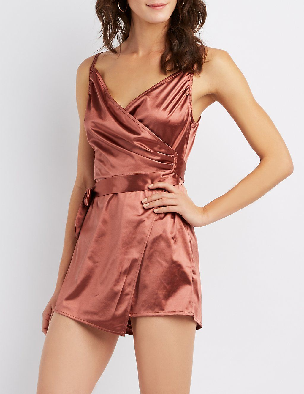 23d1dade27d Make a daring statement in this alluring satin romper