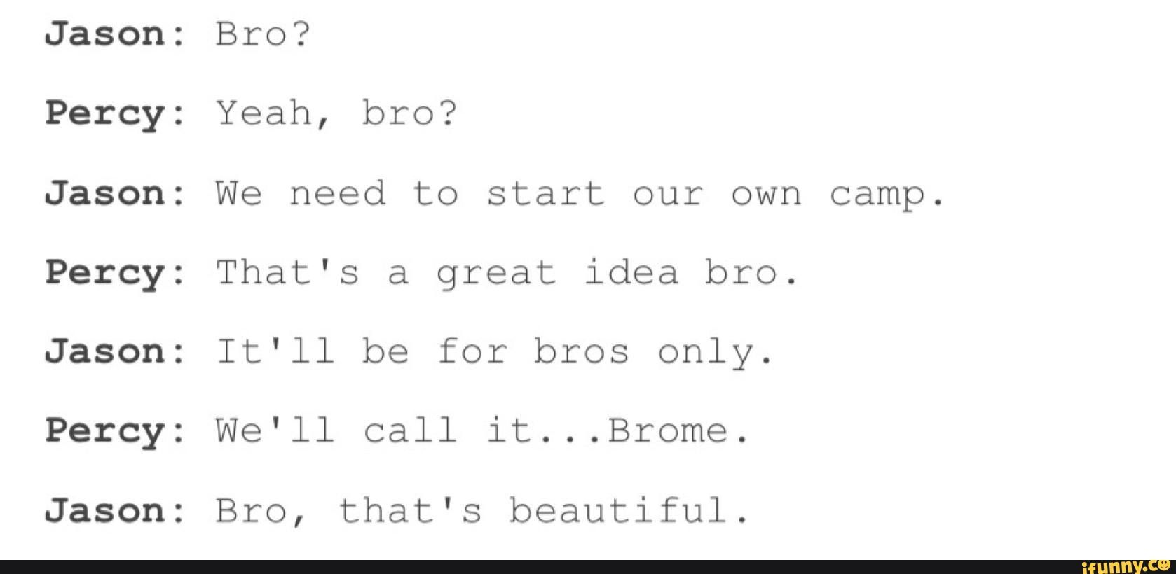 Actual Conversation Between Percy Jackson And Jason Grace With