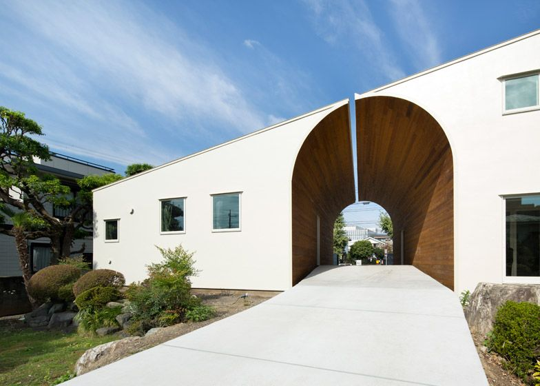 Houses by Naf Architect & Design form an arch | Arch, Architects ...