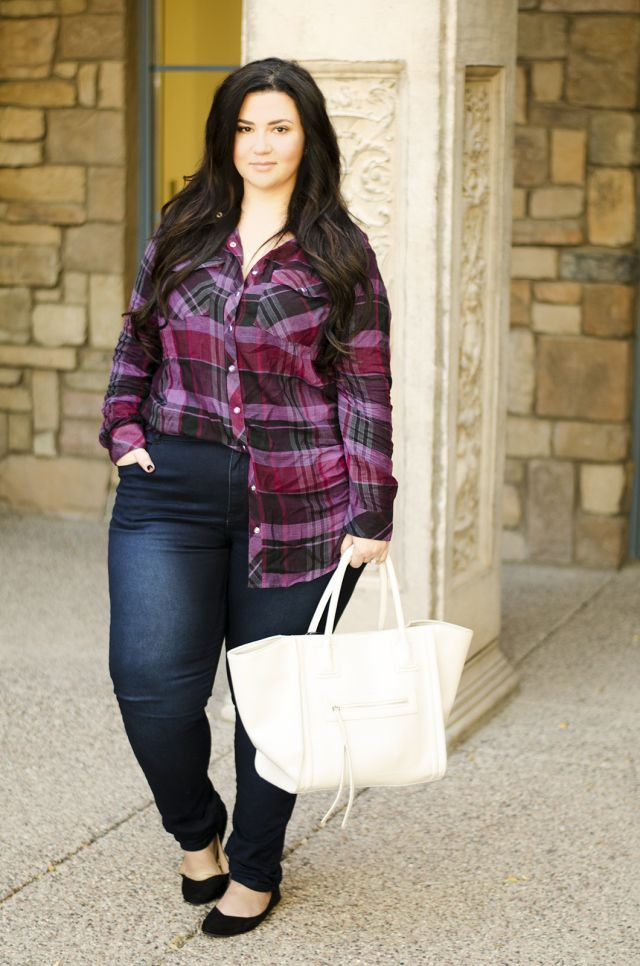 plus size plaid shirt phoenix arizona blogger crystal coons fall