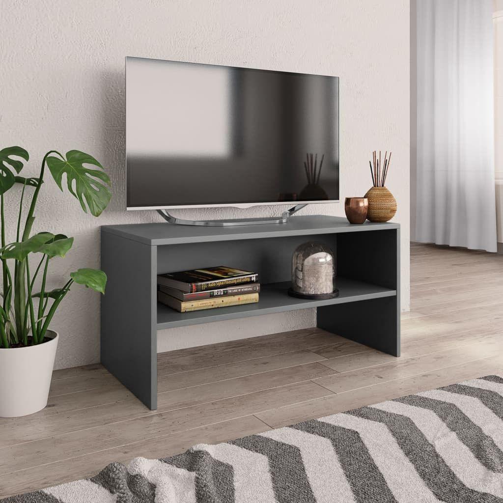 Stevige Tv Kast.Tv Meubel 80x40x40 Cm Spaanplaat Grijs Spaanplaat Meubels En