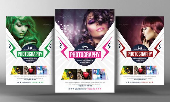 Photography Flyer Template by Business Templates on Creative - fashion design brochure template