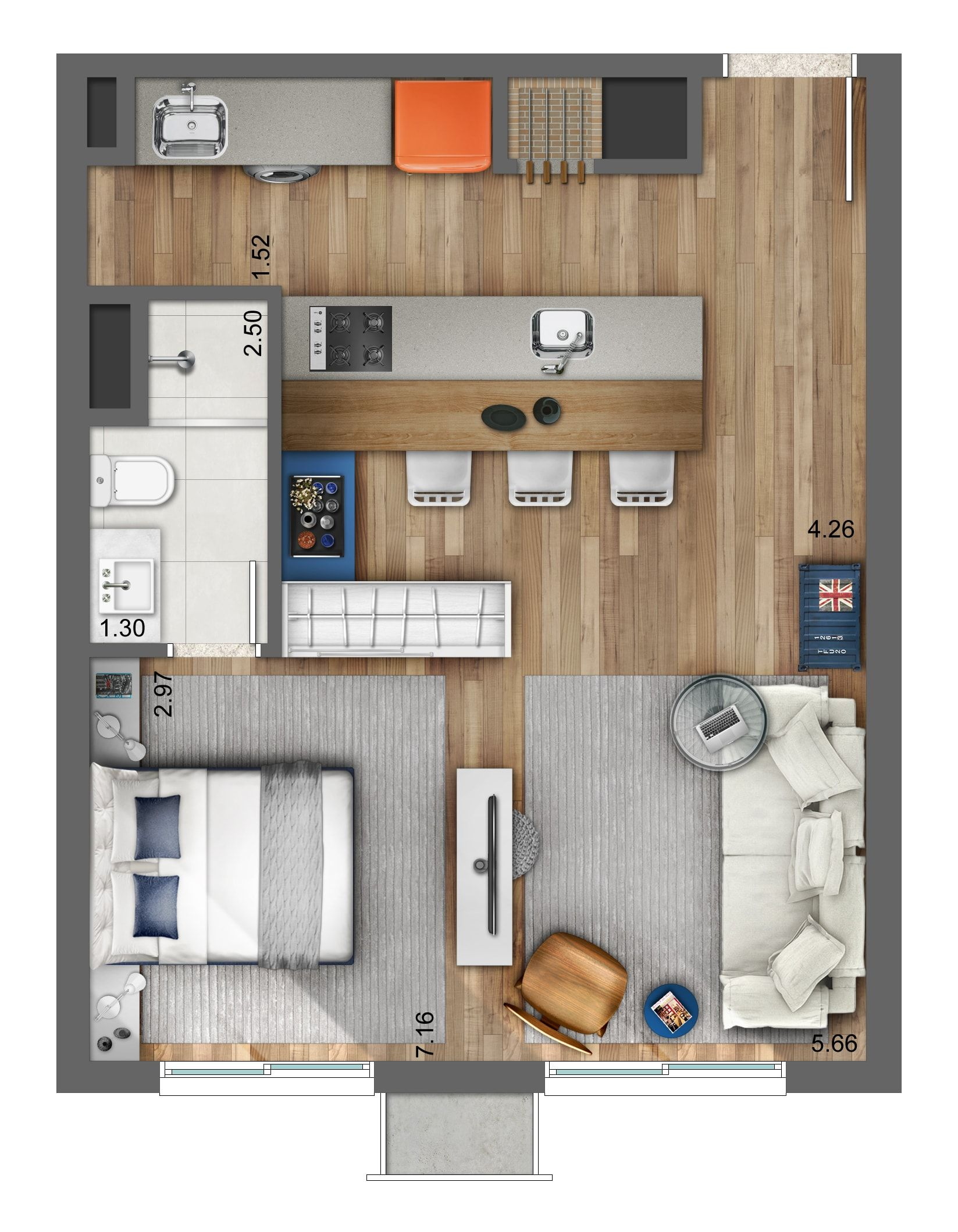 1 bedroom loft apartment  Smart u Artsy  qq  Pinterest  Artsy Tiny houses and House