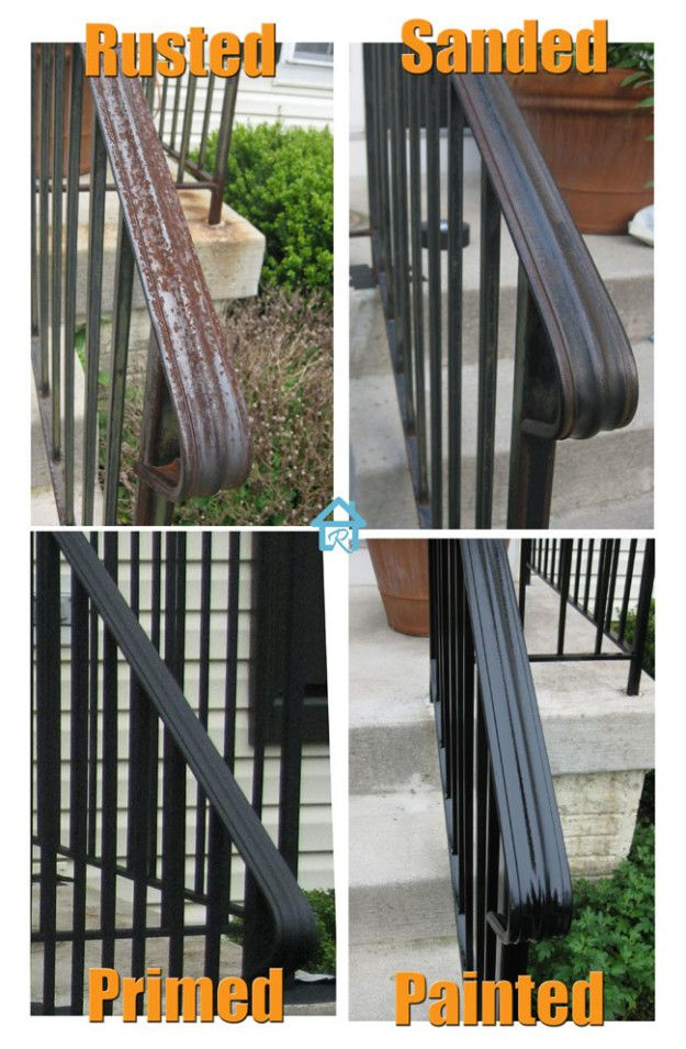 Get Even More Curb Appeal By Sanding Down And Painting Rusted