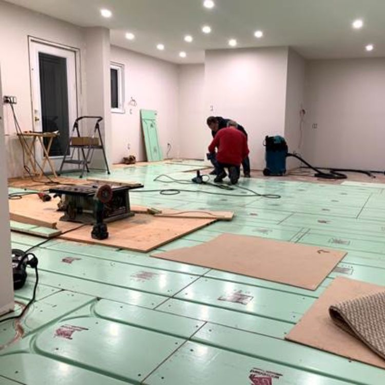 Warmboard Radiant Heating in Remodel Project in