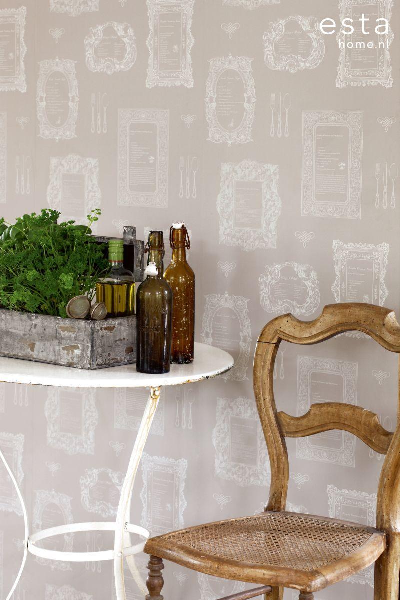 Esta tapetti Recipes luo innostavaa tunnelmaa moderniin maalaiskeittiöön - Esta wallpaper Recipes makes inspiring atmosphere to the country kitchen
