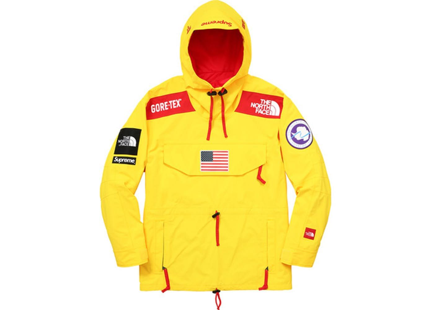 31aedfea Check out the Supreme The North Face Trans Antarctica Expedition Pullover  Jacket Yellow available on StockX