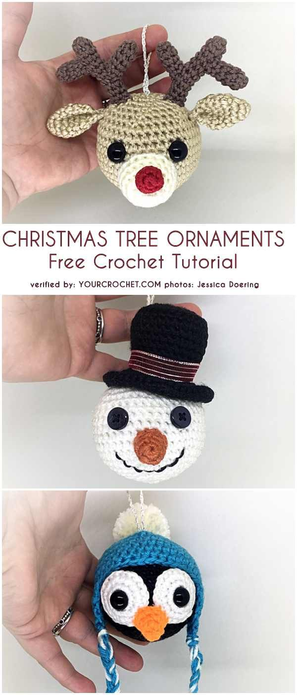 Christmas Tree Ornaments Free Crochet Patterns #smallchristmastreeideas
