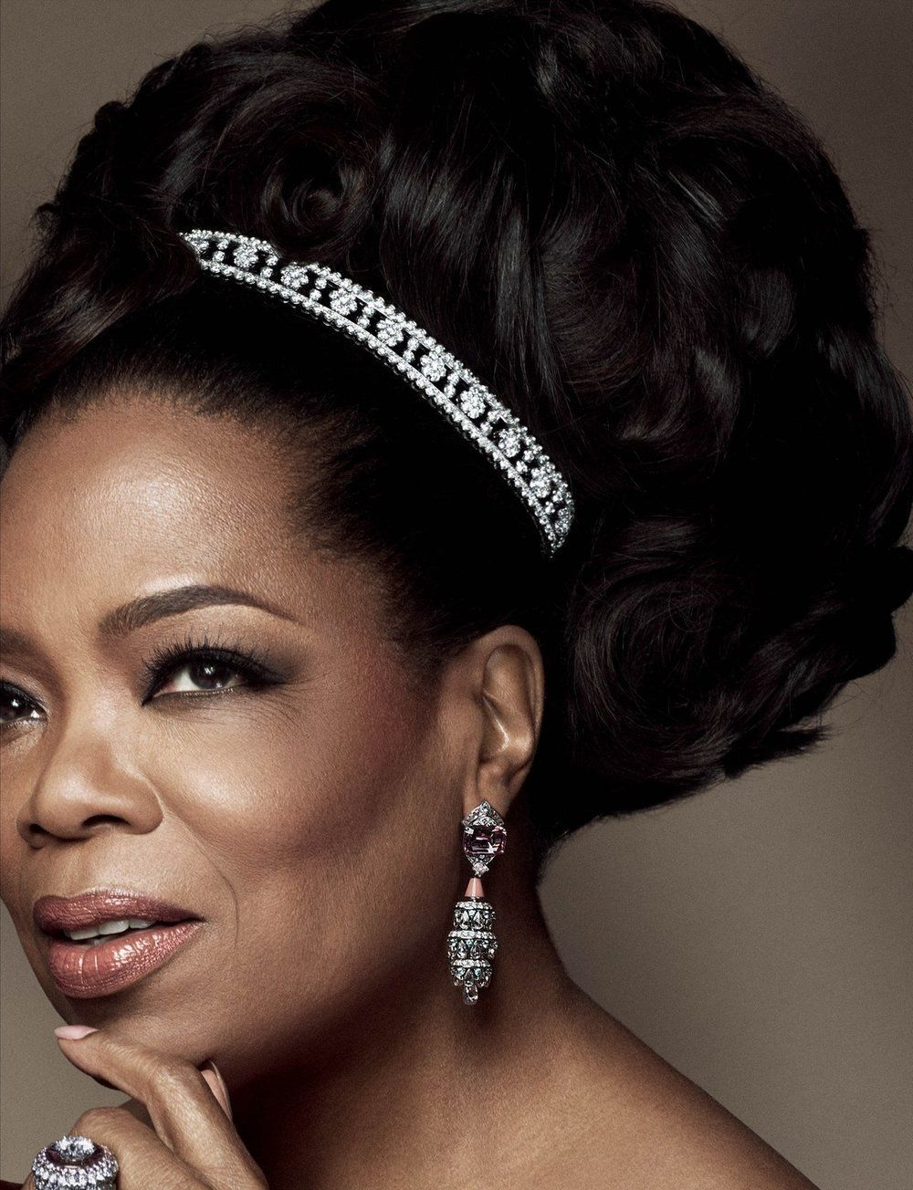 Oprah winfrey british vogue august wearing a diamond bracelet