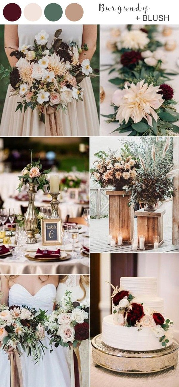 blush and burgundy fall wedding colors for 2019 in 2020