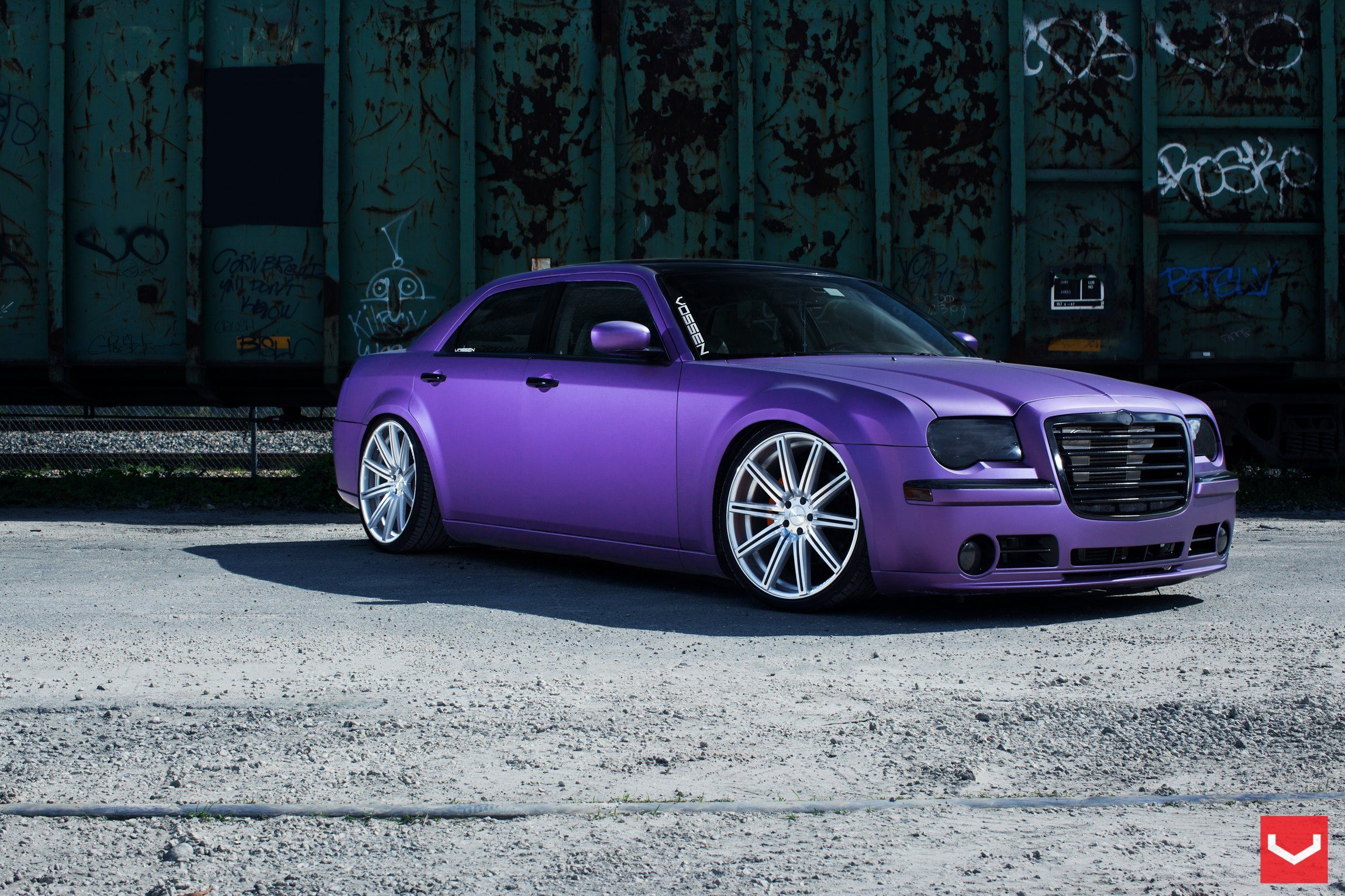Matte Plum Crazy Purple Chrysler 300 Customized to Impress