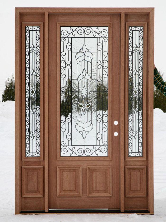 Glass Front Door Window Coverings Contemporary Front Doors Wood Exterior Door Exterior Doors