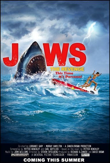 how to make your own jaws movie poster hunting