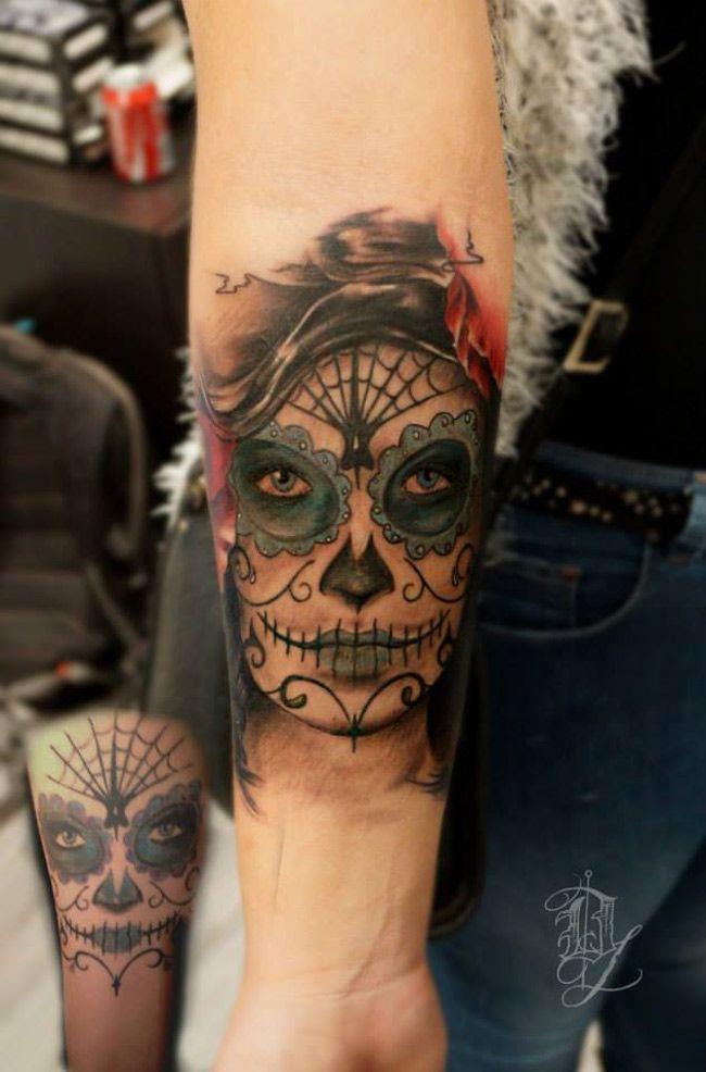 Sugar Skull Cover Up Tattoo Best Tattoo Design Ideas Tattoos Sugar Skull Tattoos Cover Up Tattoo