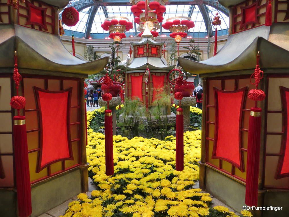 Chinese Year display, Bellagio Conservancy, Las Vegas