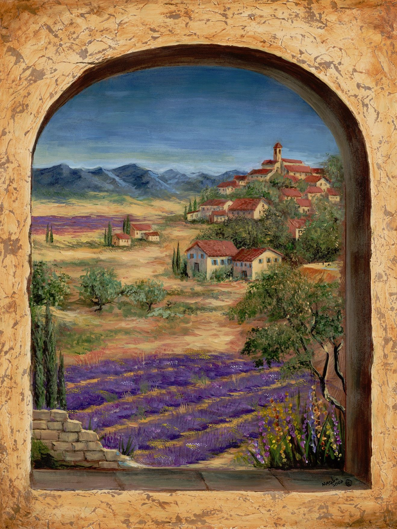 Mural Tiles For Kitchen Decor Tuscan Wall Murals  Tuscan Landscapes For Tile Murals  Tile