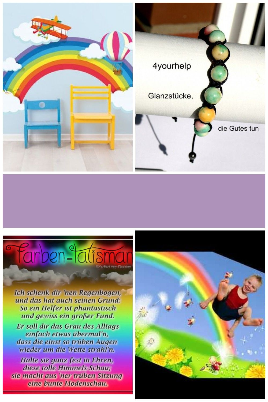 Ich Schenk Dir Einen Regenbogen Wandtattoo Regenbogen Mit Wolken