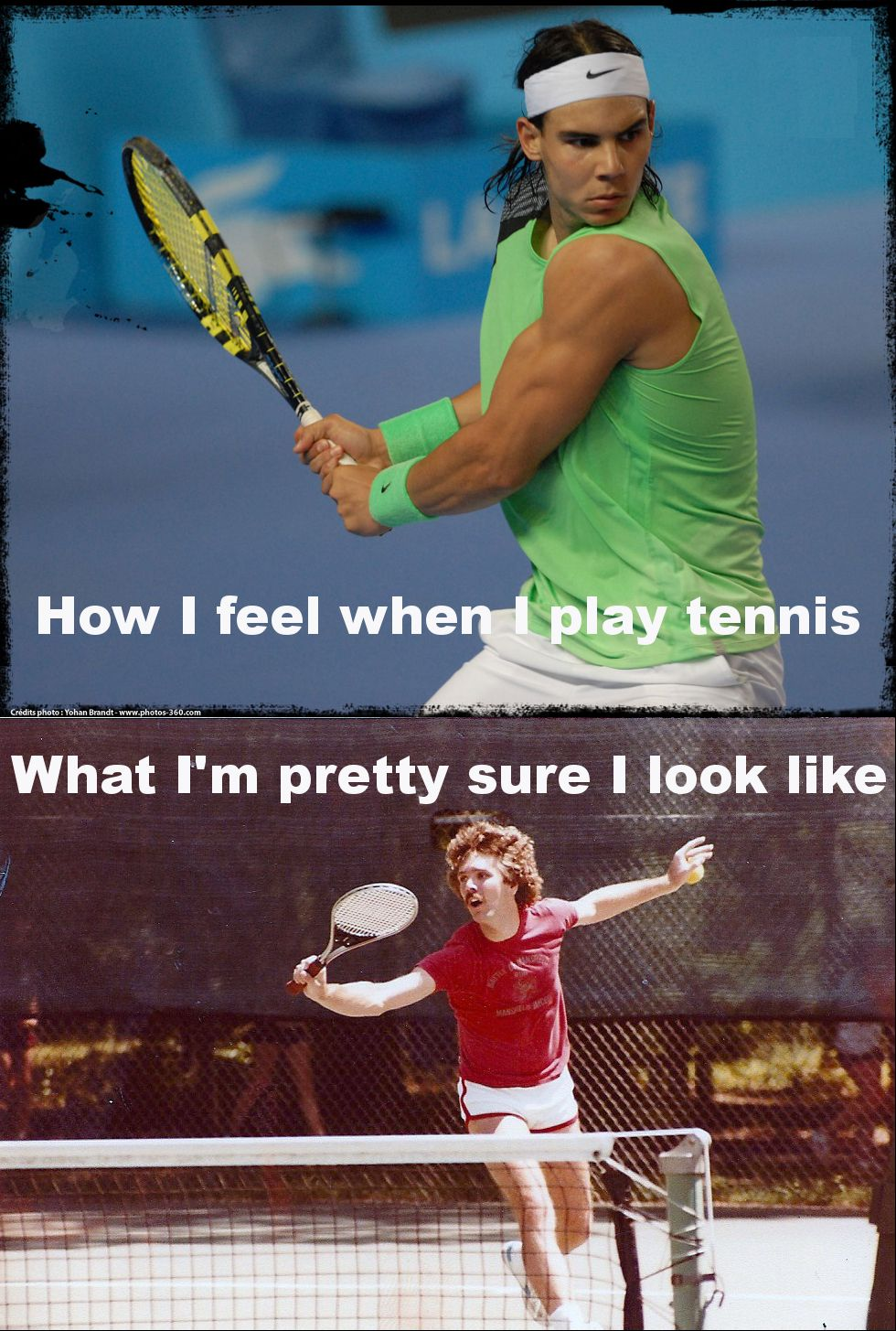 Phil Fishbein Ha Ha Ha Ha Zander Agrees I Look Like This But With Better Hair Lol Tennis Funny Tennis Quotes Play Tennis