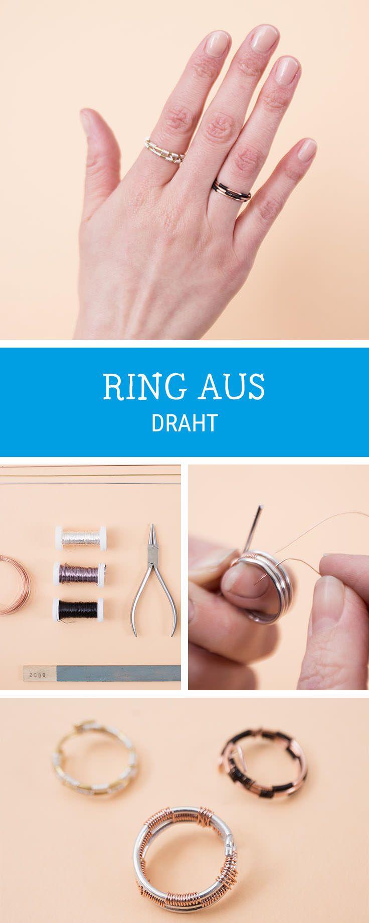 DIY-Anleitung: Ring aus Draht weben via DaWanda.com | Diy schmuck ...