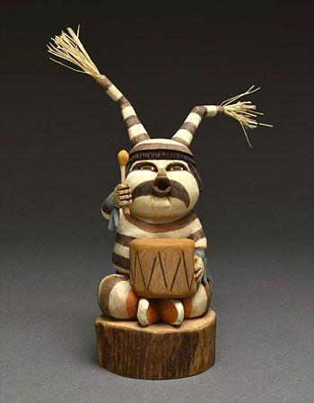 Clown Kachina Doll by Gene Dawahoya (Hopi)